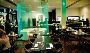 Restaurant Fusion er minimalistisk og moderne.